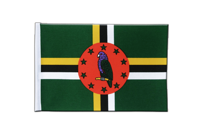 Satin Flag Dominica - 6x9""