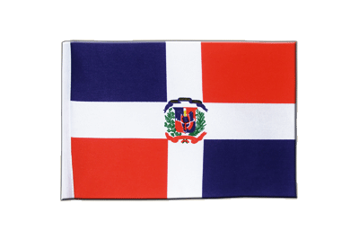 Satin Flag Dominican Republic - 6x9""