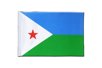 Satin Flag Djibouti - 6x9""