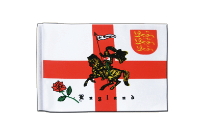 Satin Flag England with knight - 6x9""