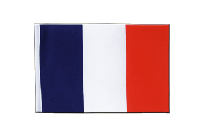 Drapeau en satin France 15 x 22 cm