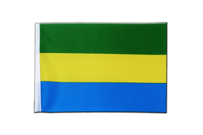 Satin Flag Gabon - 6x9""
