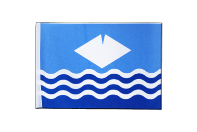 Petit drapeau en satin Île de Wight (Isle-of-Wight) 15x22 cm