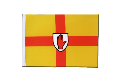 Satin Flagge Ulster - 15 x 22 cm