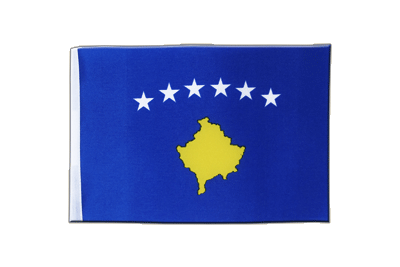 Satin Flag Kosovo - 6x9""