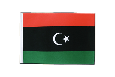 Satin Flag Kingdom of Libya 1951-1969 Opposition Flag Anti-Gaddafi Forces - 6x9""