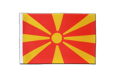 Satin Flag Macedonia - 6x9""