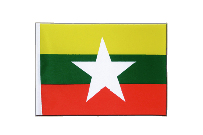 Satin Flag Myanmar new - 6x9""