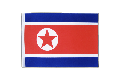 Satin Flag North corea - 6x9""