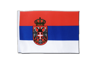 Satin Flag Serbia with crest - 6x9""