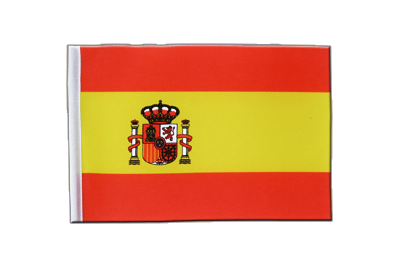 Satin Flag Spain with crest - 6x9""