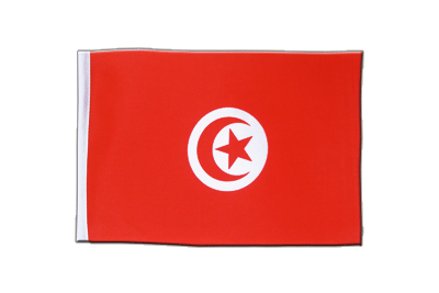 Satin Flag Tunisia - 6x9""