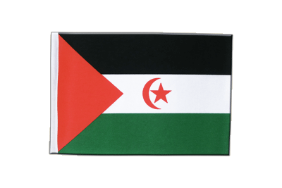 Petit drapeau en satin Sahara occidental 15x22 cm