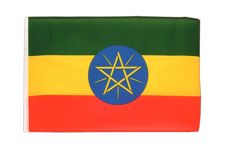 Ethiopia with star - 12x18 in Flag