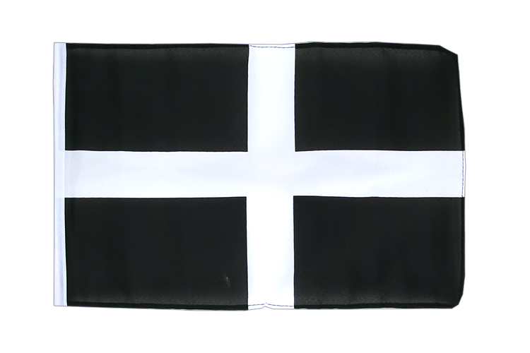 St. Piran Cornwall - 12x18 in Flag