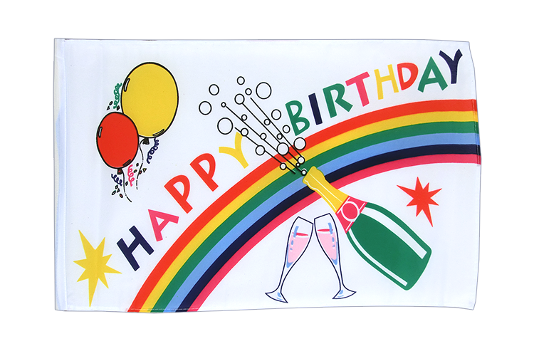 Happy Birthday - 12x18 in Flag