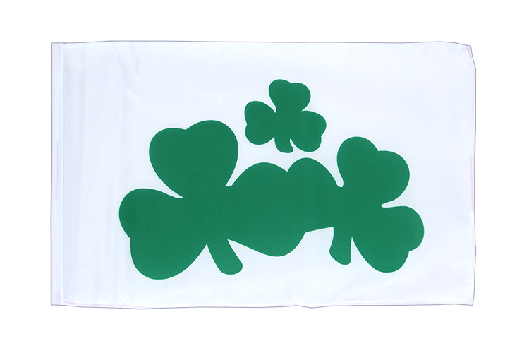 Small Flag Shamrock - 12x18""