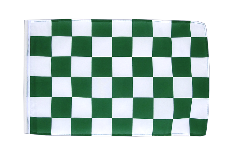 Checkered Green-White - 12x18 in Flag