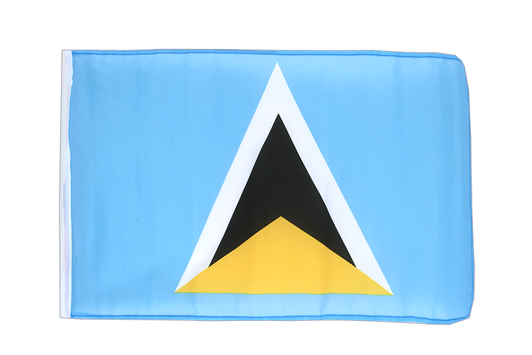 kleine st lucia flagge 30 x 45 cm flaggenplatz. Black Bedroom Furniture Sets. Home Design Ideas