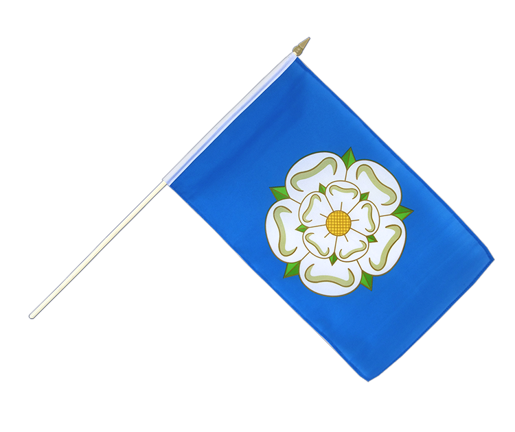 "Hand Waving Flag Yorkshire new - 12x18"" (30 x 45 cm)"
