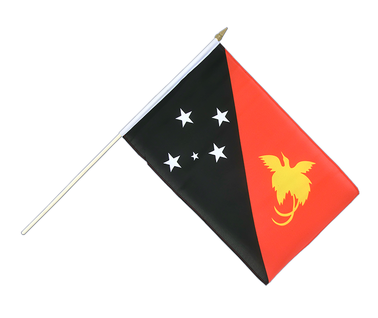 "Hand Waving Flag Papua New Guinea - 12x18"" (30 x 45 cm)"