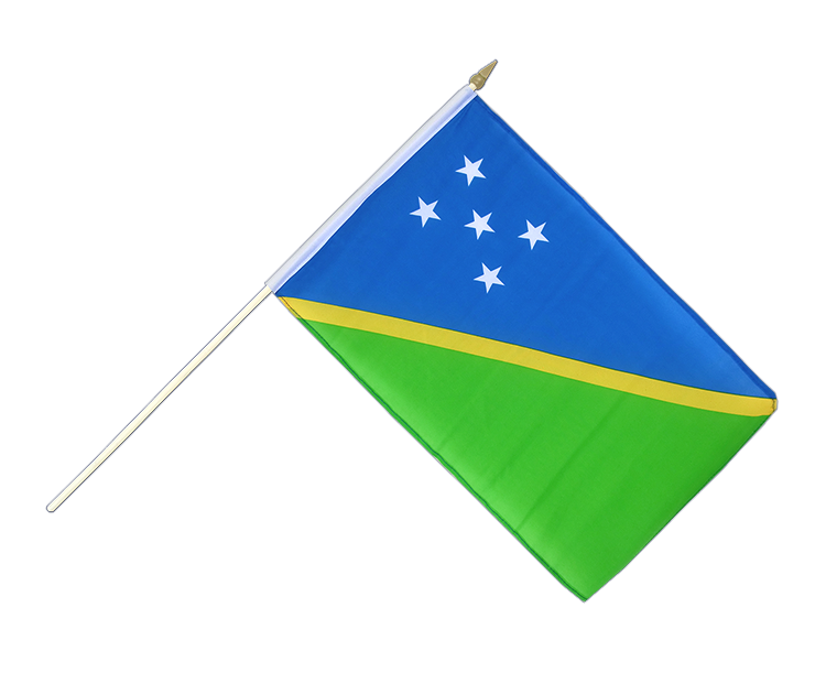 "Hand Waving Flag Solomon Islands - 12x18"" (30 x 45 cm)"