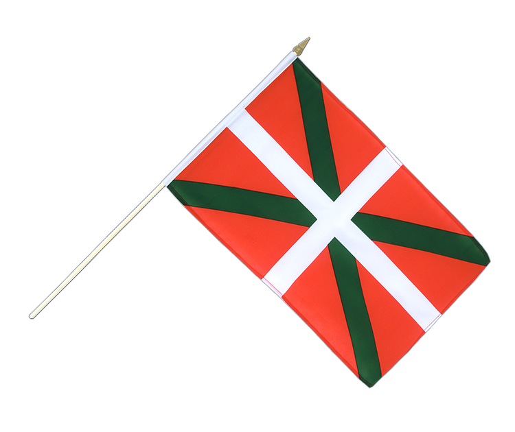 "Hand Waving Flag Basque country - 12x18"" (30 x 45 cm)"