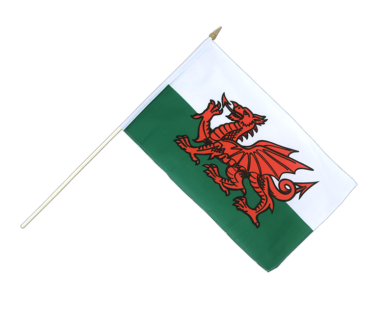 Wales - Stockflagge 30 x 45 cm