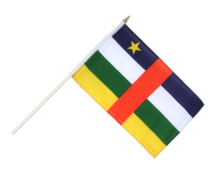 "Hand Waving Flag Central African Republic - 12x18"" (30 x 45 cm)"