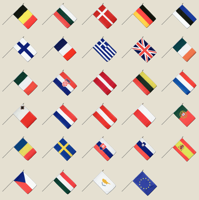 European Union - Hand Waving Flag Pack 12x18""