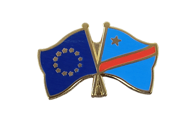 EU + Democratic Republic of the Congo - Crossed Flag Pin