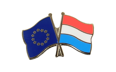 EU + Luxembourg - Crossed Flag Pin