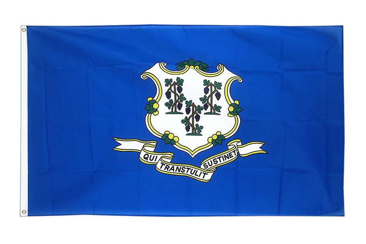 Cheap Flag Connecticut - 2x3 ft