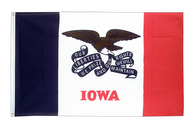 Cheap Flag Iowa - 2x3 ft