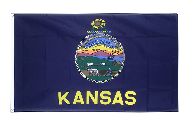 Cheap Flag Kansas - 2x3 ft