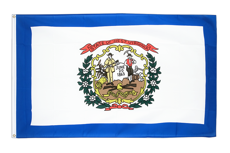 Drapeau Virgine-Occidentale (West Virginia) pas cher 60x90 cm