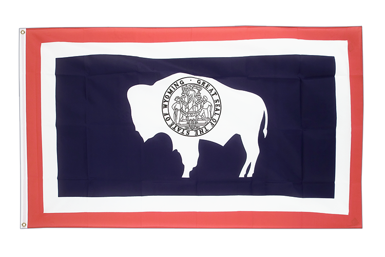 Cheap Flag Wyoming - 2x3 ft