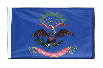 North Dakota - Flagge 30 x 45 cm, klein