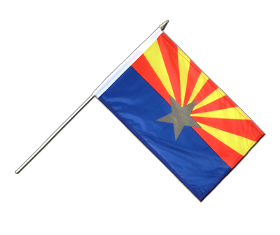 "Hand Waving Flag Arizona - 12x18"" (30 x 45 cm)"
