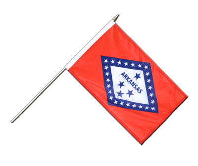 "Hand Waving Flag Arkansas - 12x18"" (30 x 45 cm)"