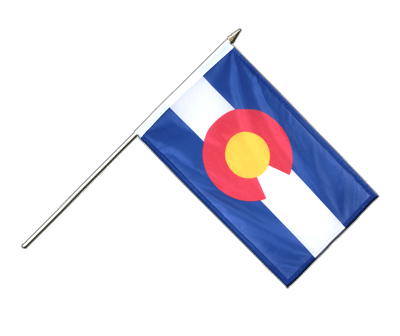 "Hand Waving Flag Colorado - 12x18"" (30 x 45 cm)"