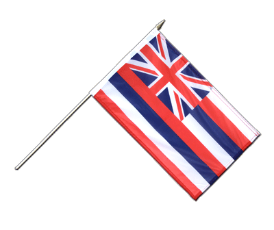 Drapeau sur hampe Hawaii à agiter 30x45cm