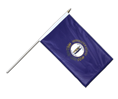 "Hand Waving Flag Kentucky - 12x18"" (30 x 45 cm)"