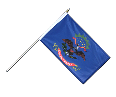 "Hand Waving Flag North Dakota - 12x18"" (30 x 45 cm)"