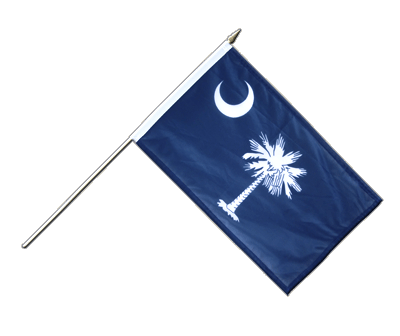 "Hand Waving Flag South Carolina - 12x18"" (30 x 45 cm)"
