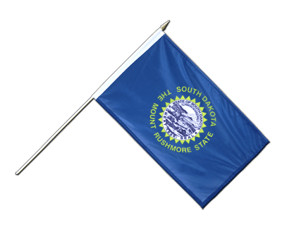 "Hand Waving Flag South Dakota - 12x18"" (30 x 45 cm)"