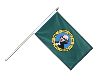 Drapeau Washington sur hampe 30 x 45 cm