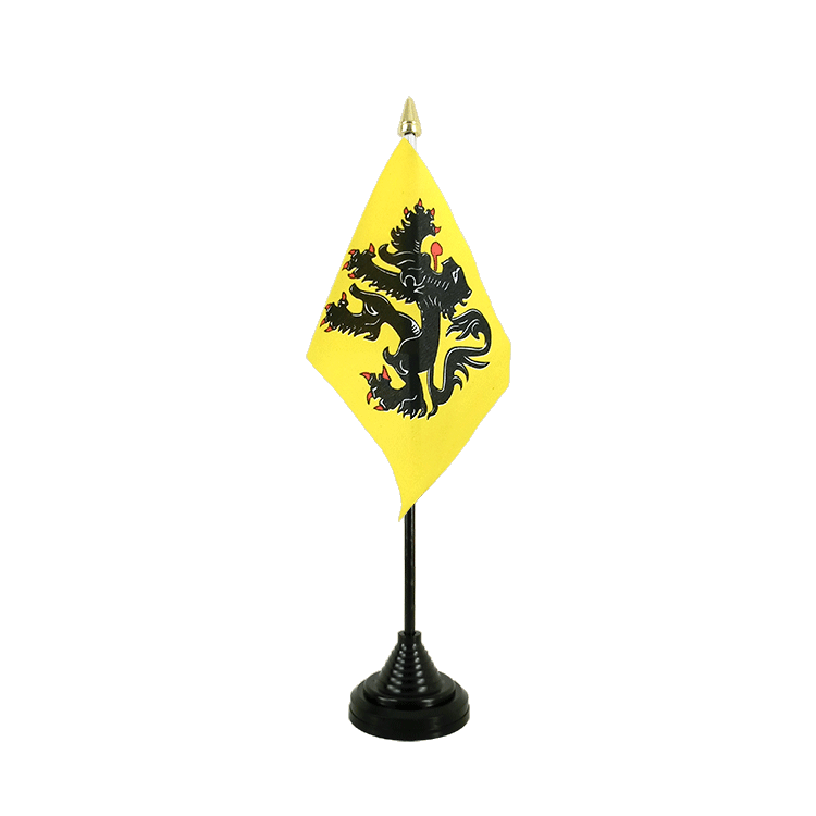 "Desk and Table Flag Belgium Flanders - 4x6"" (10 x 15 cm)"