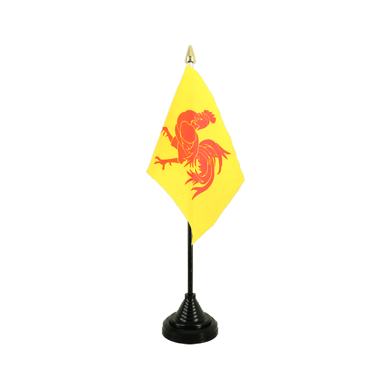 "Table Flag Belgium Wallonia - 4x6"" (10 x 15 cm)"