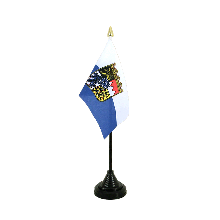 "Desk and Table Flag Bavaria Dienstflagge - 4x6"" (10 x 15 cm)"